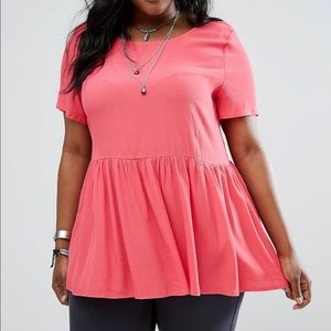 pink peplum top ($5 shipping)